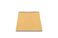 Sketch book on white background. Royalty Free Stock Photography