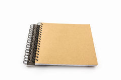 Sketch book on white background. Royalty Free Stock Image