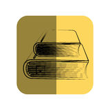 Sketch of books in square frame. Vector illustration Royalty Free Stock Images