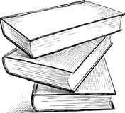 Sketch of the books Stock Photo