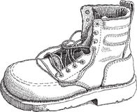 Sketch of Boot Royalty Free Stock Image