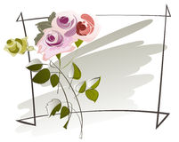 Sketch a bouquet of roses Stock Images