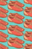 Sketch bowling shoes in vintage style Royalty Free Stock Image