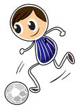A sketch of a boy playing soccer Stock Images