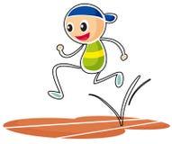A sketch of a boy running Royalty Free Stock Photos