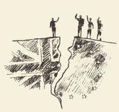 Sketch Brexit UK EU referendum vector illustration Royalty Free Stock Photo
