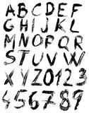 Sketch brush alphabet Royalty Free Stock Image