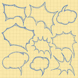 Sketch bubbles Stock Image