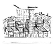Sketch Building City Vector Drawhand Stock Photo