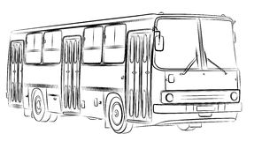 Sketch of bus. A sketch of a large passenger bus Royalty Free Stock Photo