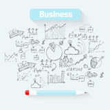 Sketch business background Stock Photo