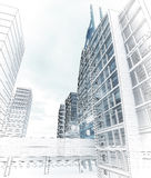 Sketch of the business center. Stock Photos