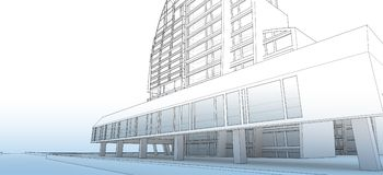 Sketch of the business center. Royalty Free Stock Photos