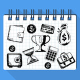 Sketch of business concept and money Royalty Free Stock Image
