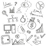 Sketch of business doddle. Elements Stock Images