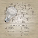 Sketch Business Infographics Stock Image