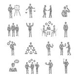 Sketch Business People Stock Photo