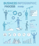 Sketch Business People Infographics Stock Photography