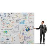 Sketch of a business project. Businessman showing a sketch of a business project Stock Photo