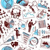 Sketch business seamless Stock Image