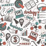 Sketch business seamless pattern Royalty Free Stock Image