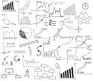 Sketch business set Stock Photos