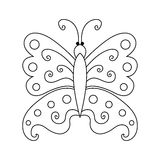Sketch butterfly Doodle drawn by hand. On white background vector illustration