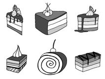 Sketch cake element. Stock Photography