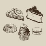 Sketch cakes Royalty Free Stock Photos