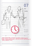 Sketch on the calendar Stock Images
