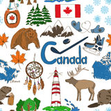 Sketch Canada seamless pattern Stock Photo