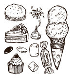 Sketch candy Royalty Free Stock Photography