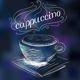 Sketch of cappuccino Royalty Free Stock Photography