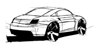 Sketch car Royalty Free Stock Images