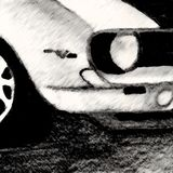 Sketch of Car Front Stock Photos