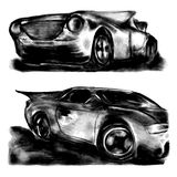Sketch car on isolated background royalty free illustration