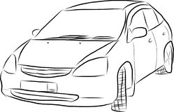 Sketch of a car Stock Image