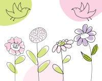Sketch card. Hand drawn infant card for design use royalty free illustration