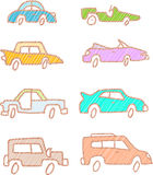 Sketch Cars Stock Image