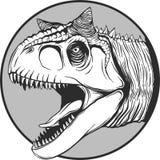Sketch of a cartoon dinosaur in vector illustartion royalty free stock images