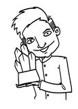 Sketch Cartoon man Royalty Free Stock Image