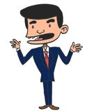 Sketch Cartoon man Royalty Free Stock Photos