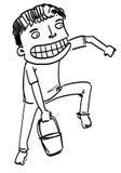 Sketch Cartoon man Royalty Free Stock Photography