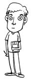 Sketch Cartoon man Stock Photo