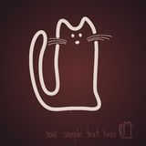 Sketch, cat, icon, chocolate Royalty Free Stock Images