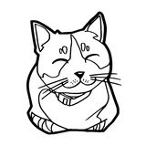 Sketch of the  cat on white background vector Stock Photos