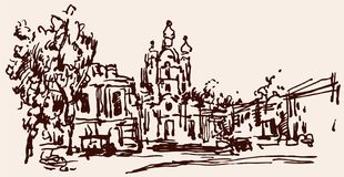 Sketch of the Cathedral Stock Photography