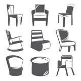 Sketch chair icons Royalty Free Stock Images