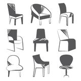 Sketch chair icons Stock Images