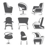 Sketch chair icons Stock Image